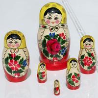 Russischen Puppe, aus 6 Einheiten gesetzt