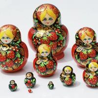Russische Puppe von 10 Einheiten