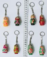 Keychains with Russian dolls